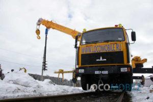 Шнекобуровая установка для автокрана железнодорожного