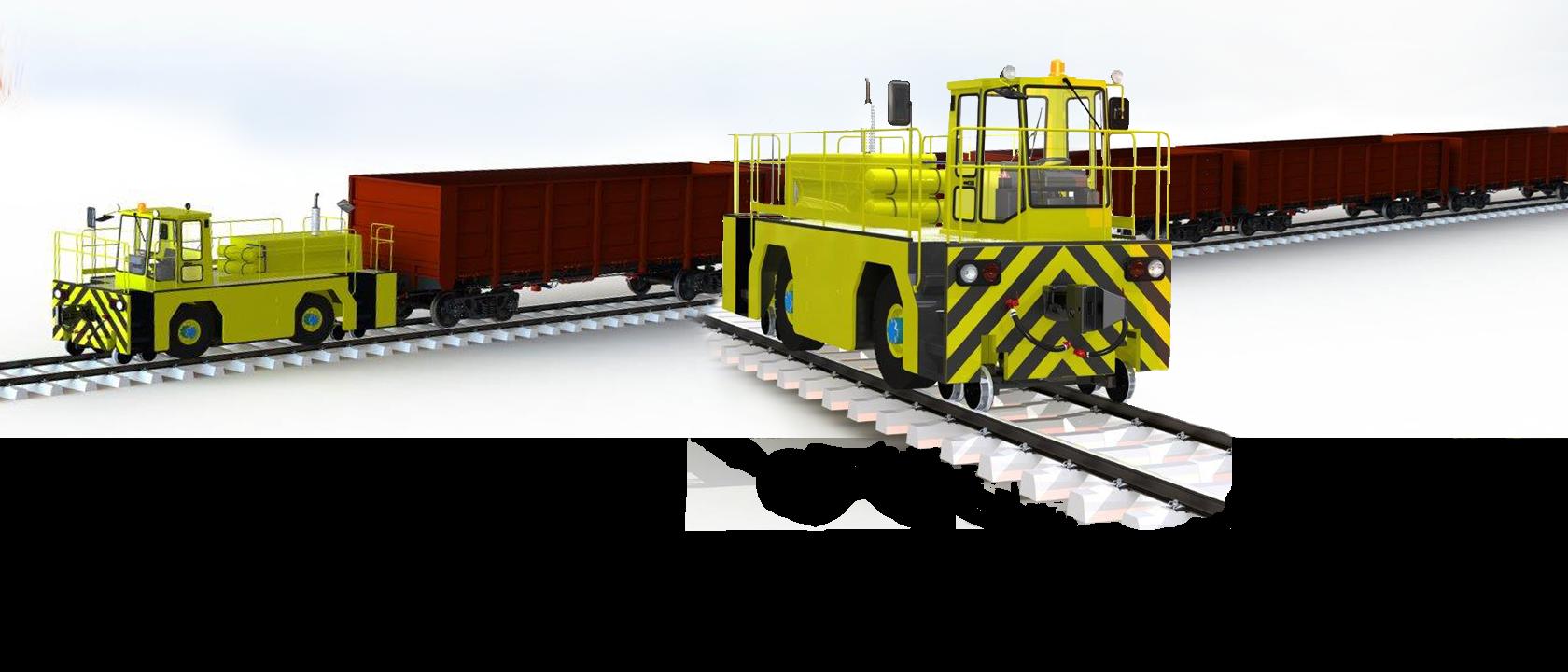 Локомобиль маневровый тягач
