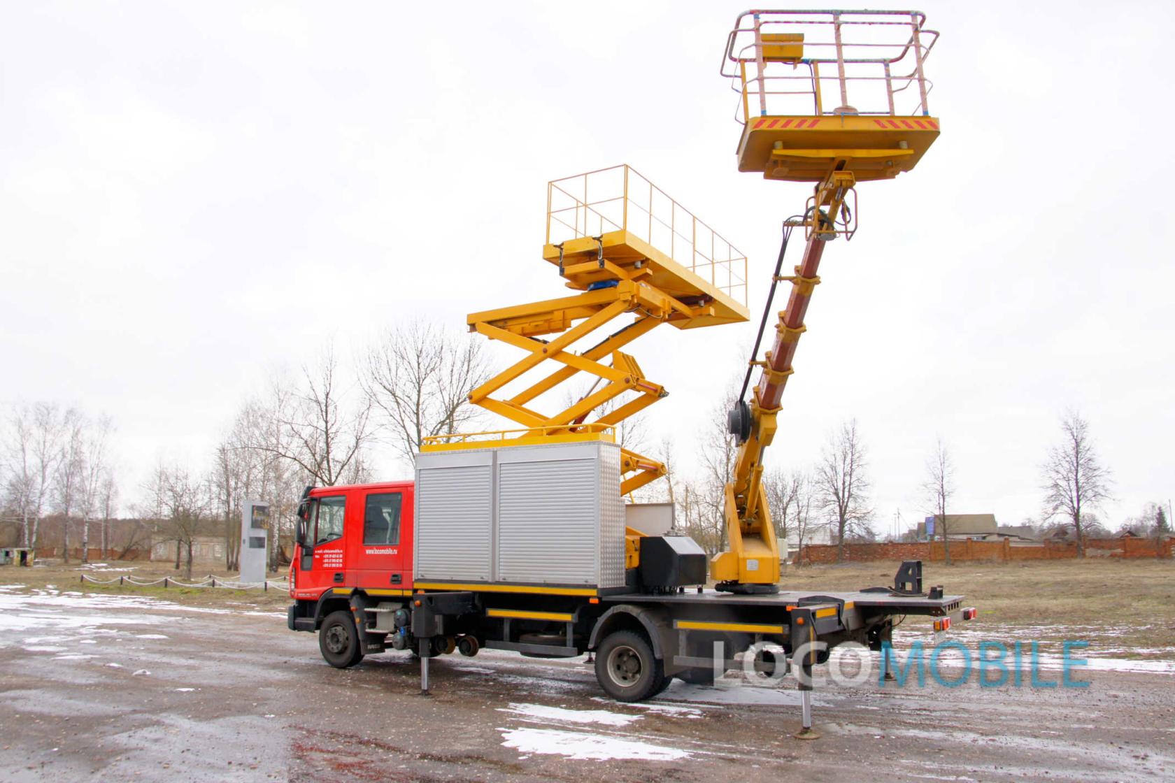 ТРАМЛИНЕР ТЛ017 автогидроподъемник для трамвайных линий
