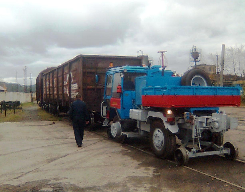 Тяговый модуль вагонов на выгрузке вагонов